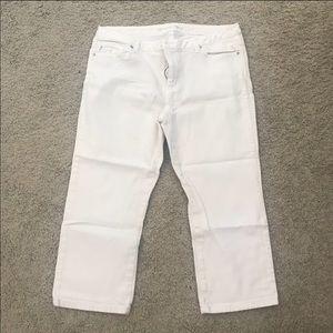 Michael Kors White Crop Jeans Size 12